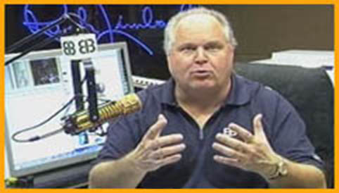 Rush Limbaugh fondles his manboobs on the dittocam