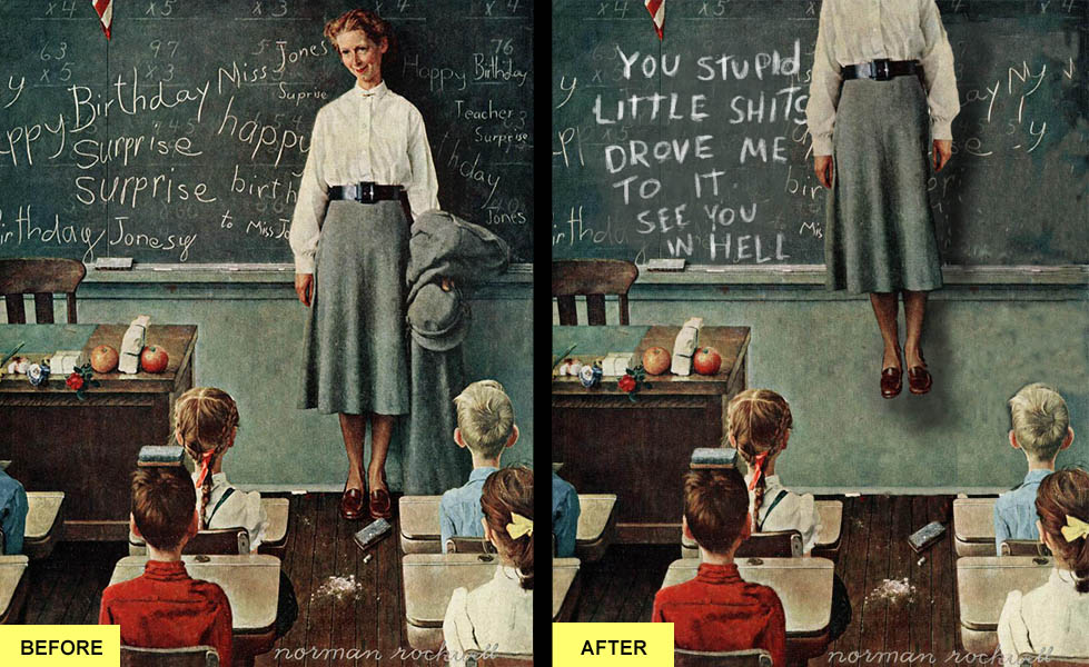 Norman Rockwell's Dead Teacher