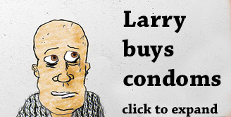 Larry buys condoms